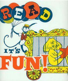 Vintage reading ads