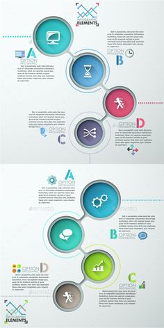 Modern Infographic Options Template (2 Items) — Photoshop PSD #brochure #creative • Available here → https://graphicriver.net/item/modern-infographic-options-template-2-items/13682983?ref=pxcr