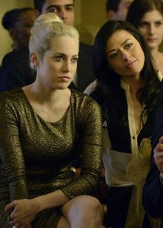 They're so cute together!! Gail and Holly (Charlotte Sullivan  Aliyah O'Brien).