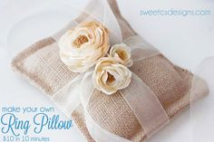 How to make a burlap ring pillow for $10 in under 10 minutes