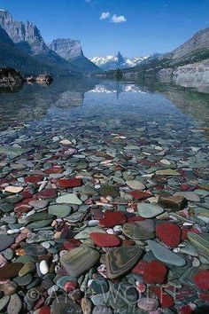 St. Mary Lake, Glacier National Park,  Montana #TravelDestinationsUsaMontana #TravelDestinationsUsaNationalParks