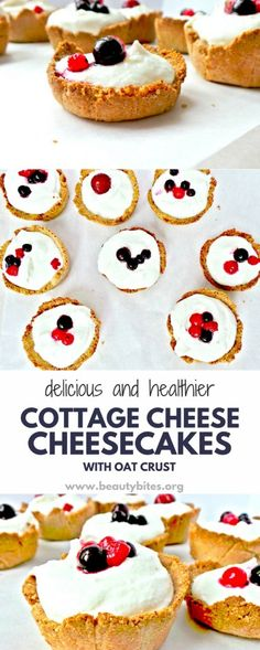 Very addictive, but also healthy dessert! This is a clean-eating healthy cheesecake recipe, and it's high-protein, very few ingredients, easy to make, no sugar, sweetened with honey, crust - flourless, made with ground oats. So good! Very delicious healthy dessert recipe, that I also ate for breakfast a few times. Abs no regrets.