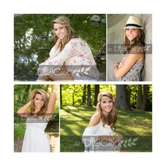 Senior girl, photography, senior girl poses, girl poses, headbands, hats, water, creek, DigiClix Photography, senior photos, senior girl photography, senior portraits, poses