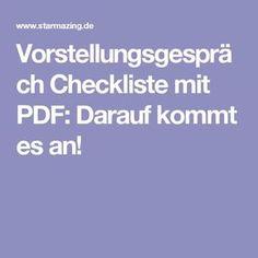 Vorstellungsgespräch Checkliste mit PDF: Darauf kommt es an!
