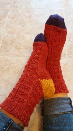 Pumpkin Scrappy Socks - pdf knitting pattern di MyCraftyDream su Etsy