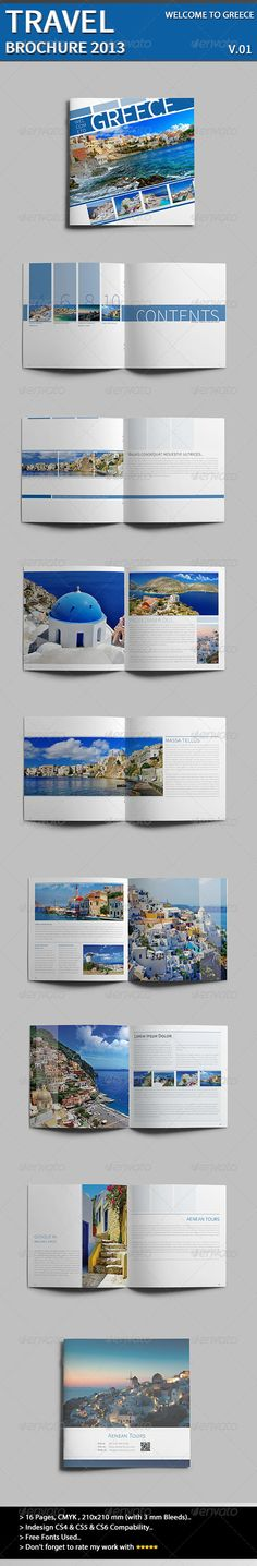 Welcome To Greece  InDesign Template • Download ➝ https://graphicriver.net/item/welcome-to-greece/3986145?ref=pxcr