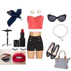 """""""Simple pin-up"""" by shera on Polyvore #ICeCarats http://www.icecarats.com/Sterling-Silver-11.0012.00-Mm-Circle-8-12-Freshwater-Cultured-Pearl-Bracelet-137225.aspx"""