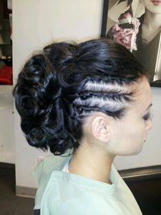 party theme tea party hair side curls vintage waves pinup hairstyle ...