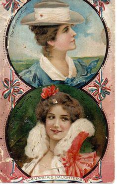 Hood Family Medicines Victorian Advertising Trade Card Columbias Daughters 1903