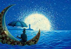 ❍ Sailing toward the moon.