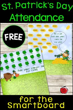 A fun way to take attendance the week of St. Easy to add your own students' names. Teacher Blogs, Teacher Hacks, Teacher Resources, Classroom Solutions, Classroom Organisation, Fifth Grade, Second Grade, Teaching Activities, Teaching Ideas