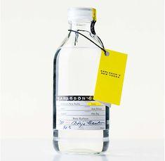 sleek and unique vodka package design