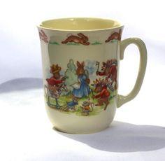 Royal Doulton Bunnykins Single Handled Mug  by modernlookvintage