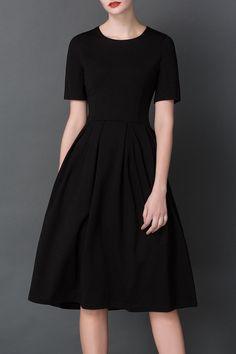 Waisted Midi Hepburn dress