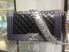 Chanel Black Medallion Boy Bag