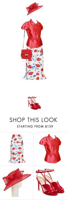 """""""Floral Skirt"""" by kim-mcculley ❤ liked on Polyvore featuring Oscar de la Renta, John Lewis, Valentino, Alexander Wang, floralskirt and invisabledoll"""