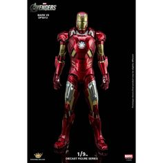 King Arts Avengers 1/9 Diecast Figure Series: Iron Man Mark VII * In stock, usually ships within 24hrs * 1/9 Scale * Material: Alloy, ABS * Height: approx. 240mm * Ultra high movable design can exhibit for various film dynamic pose! * Alloy armor and alloy joint made the iron man good quality and bring people more reality. * Exquisite painting, good looking, fully expresses the Iron man�s steel mechanical feeling! * Light effect given from the eyes, chest lamp, hands and feet can re...
