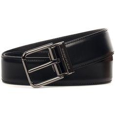Black Leather Belt ($264) ❤ liked on Polyvore featuring men's fashion, men's accessories, men's belts, black and menaccessoriesbelts