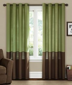 Green And Brown Curtains Canopy