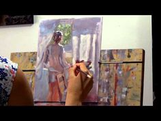 """""""Woman by the window"""" - alla prima oil painting demo by Lena Rivo - YouTube"""