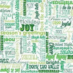 Words of the Season fabric by robyriker on Spoonflower - custom fabric