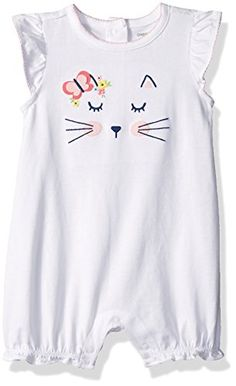 Gymboree Baby Toddler Girls' Cat Face Bubble Romper Shoulder and leg snaps for easy dressing Screen print graphic Ruching detail on shoulder Toddler Girl Romper, Toddler Girl Outfits, Baby Outfits, Toddler Girls, Baby Girls, Baby Girl Fashion, Toddler Fashion, Kids Fashion, Spring Fashion