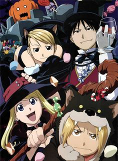 FMA Halloween! In every official halloween fan art the hot guys are either the werewolf or the vampire xD