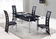 Shop Global Furniture Dining Table with great price, The Classy Home Furniture has the best selection of Dining Tables to choose from Black Glass Dining Table, Buy Dining Table, Wooden Dining Room Chairs, Furniture Dining Table, Modern Dining Table, Dining Room Design, Cool Furniture, Modern Chairs, Furniture Usa
