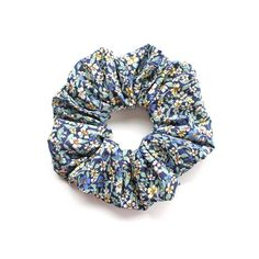 FORGOT ME NOT .Blue floral Scrunchy or Scrunchie. Women Hair Accessories. Retro Accessory. by Smukie on Etsy https://www.etsy.com/listing/279426926/forgot-me-not-blue-floral-scrunchy-or