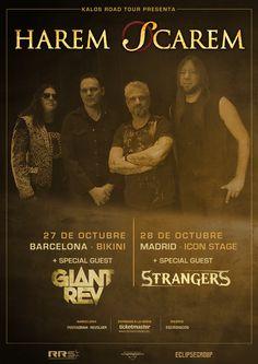 """Os recordamos que HAREM SCAREM estará mañana día 27 en Barcelona y el 28 en Madrid Kalos Road Tour se enorgullece en presentar a los maestros del hard rockHarem Scarem. Es indudable que toda su carrera es igual a calidad y en su último disco, """"United"""", los canadienses han vuelto a hacer un hito ..."""
