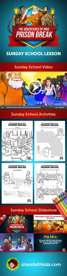Acts 16 Prison Break Kids Bible Story In We Follow The Exciting Adventures