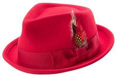 6dd2e9d969a Montique Bogart Stingy Brim Fine Heather Wool Felt Bogart Teardrop Dent Hat  With Feather H-54