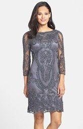 Pisarro Nights Embellished Shift Dress