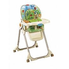 Fisher-Price High Chair with Toy Tray - Rainforest... Super cute, looks similar to my nephew's