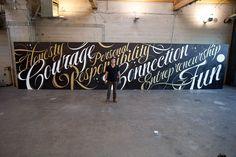 Lululemon Type Mural / Ben Johnston