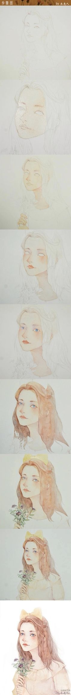 000 Watercolor Journal, Watercolor Artwork, Watercolor Portraits, Watercolor Illustration, Watercolour Tutorials, Watercolor Techniques, Manga Paint, Guache, Drawing Skills