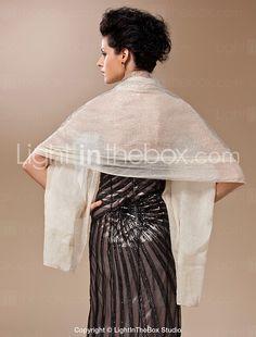 100% Handmade Sheer Silk Evening/Wedding Shawl/Wrap - USD $ 39.99