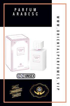 Parfum Arabesc Extreme Rose de 100ml este un parfum excelent unisex, este o aură a trandafirilor într-o sticlă si este proiectată de Louis Varel, trandafirii sunt  amestecati cu cafea și vanilie pentru a lăsa o amprentă remarcabilă in jurului celui ce il poartă. Oriental, Amber, Cards Against Humanity, Unisex, Rose, Design, Fragrance, Pink