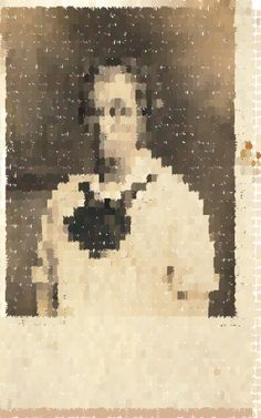 Mosaic based on a photo of an androgynous sailor.