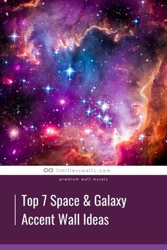 Looking for stellar wall decor ideas for your child's room? We rounded up 7 of our favorite space and galaxy accent wall ideas! | Limitless Walls - Premium Wall Murals Mural Ideas, Wall Ideas, Decor Ideas, Solar System Diagram, Childrens Wall Murals, Movies Under The Stars, Galaxy Images, Ceiling Murals, Removable Wall Murals