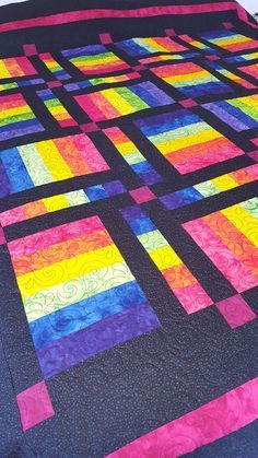Unicorn Candy Quilt Pattern - Great rainbow quilt pattern easy for beginner quilters