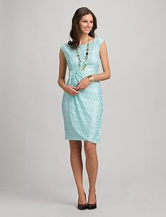 Lace Faux Wrap Dress Dress Barn