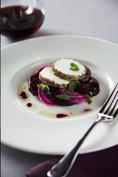 last supper catering beetroot salad with goats cheese.