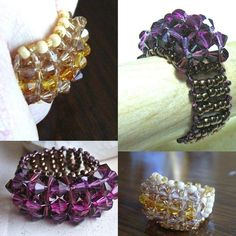 TUTORIAL Jewelry Tutorials Rings  Crystal by JewelryonPicadilly
