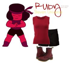 """Ruby - Steven Universe"" by itssnippy ❤ liked on Polyvore"