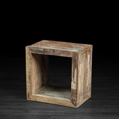 Side tables for living room: Rainbow Cube Made of Recycled Wood   Artemano