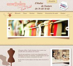 Création du site internet de l'atelier de couture Entre 2 points à Bourgoin Jallieu www.entre2points.fr