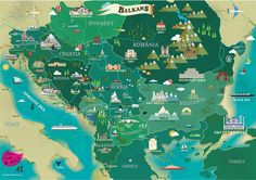 Tourist map of the Balkans featuring all the... - Haide Balkania!