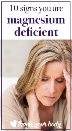 10 Signs you're magnesium deficient. #5 was huge for me!