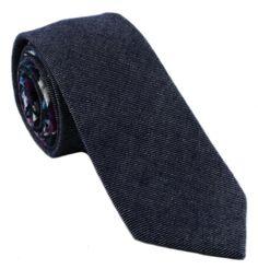 1937 London Linden Skinny Wool Mix Tie